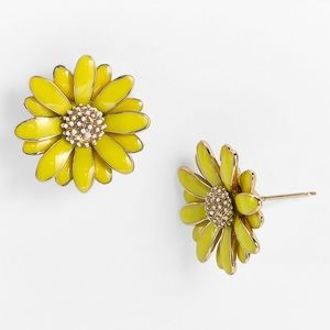 NEW Kate Spade Yellow Daisy Earrings
